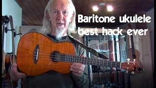 Clever trick with a baritone ukulele