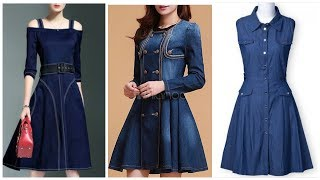 The Most Stylish & Cute Dresses /Jeans Dress Designs For Girls & Womens
