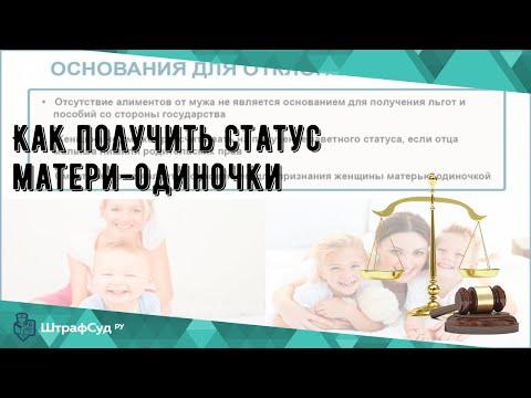 Как получить статус матери-одиночки