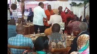 Uhuru attends Waiguru's wedding - VIDEO