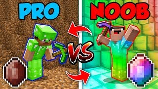 Minecraft NOOB vs. PRO : SWAPPED EMERALD BATTLE in Minecraft (Compilation)