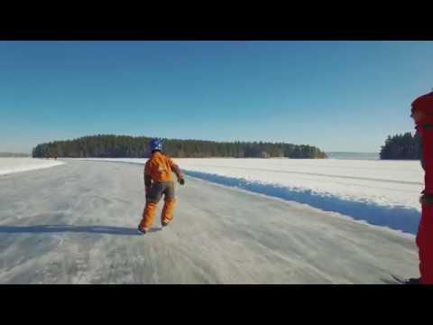 Skridskoåkning i Södra Dalarna