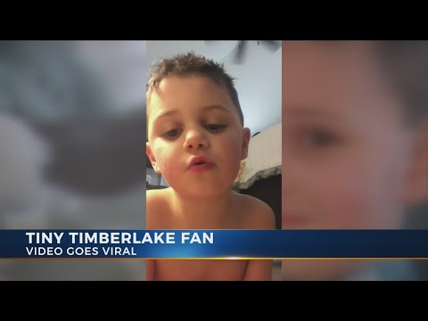 Tiny Justin Timberlake fan's video goes viral