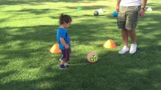 2 1/2 year old soccer player private training with JUKE SOCCER