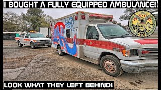 I bought a Fully Equipped Fire Rescue Ambulance! Look What They Left Behind!