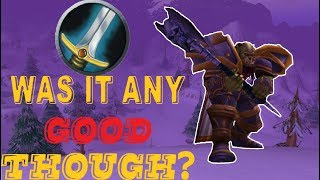 WARRIOR In CLASSIC WoW: Was It Any Good Though?