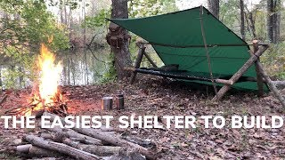 Easy Overnight Shelter Build With Minimal Gear   The Poachers Camp