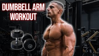 Biceps & Triceps Home Workout Using Dumbbells