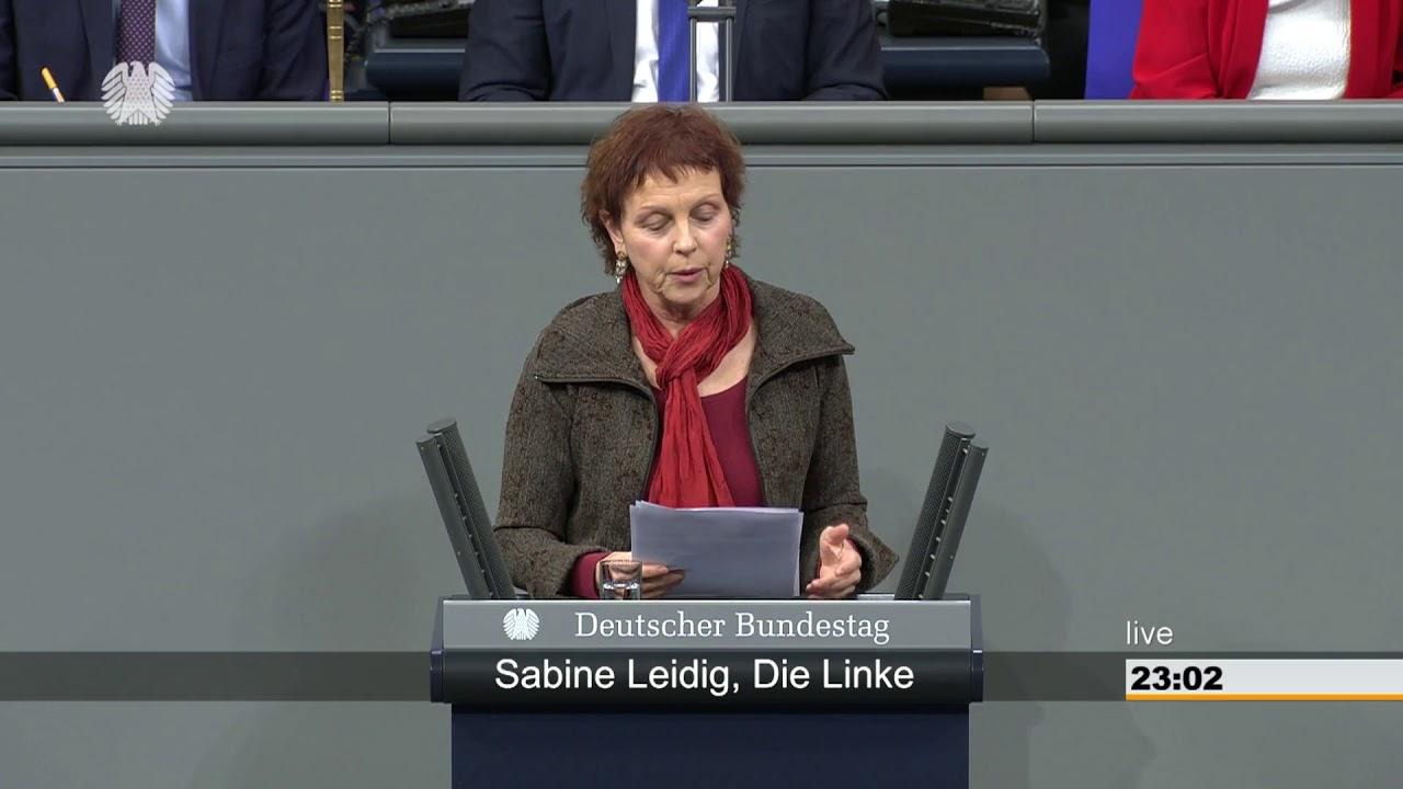 Rede von Sabine Leidig am 17. Januar 2019 im Deutschen Bundestag zum Thema Drohenden Kollaps verhindern – Deutsche Bahn AG demokratisch umbauen