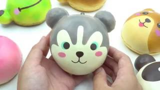 cute husky puppy bun scented squishy by Puni Maru