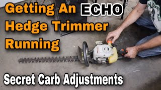 Getting An ECHO Hedge Trimmer Running