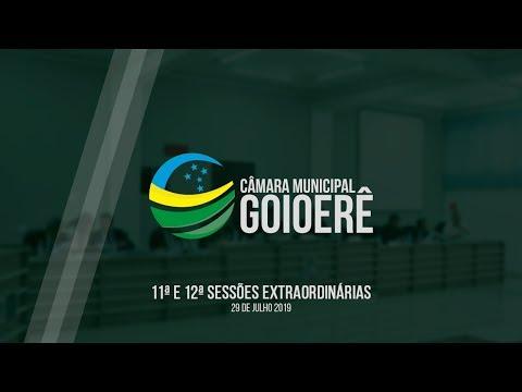 11ª e 12ª Sessão Extraordinárias - 2019