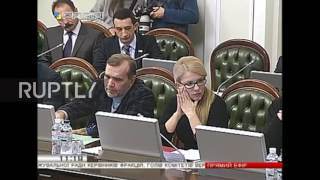 Ukraine: Punches fly during speech in parliament