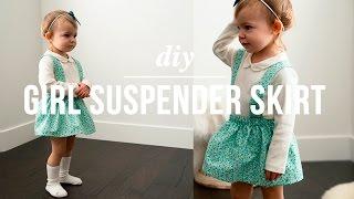 DIY Easy Girl Suspender Skirt