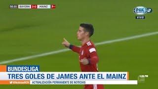 James marca tripleta con Bayern Múnich: triplete de James ante Mainz en Bundesliga