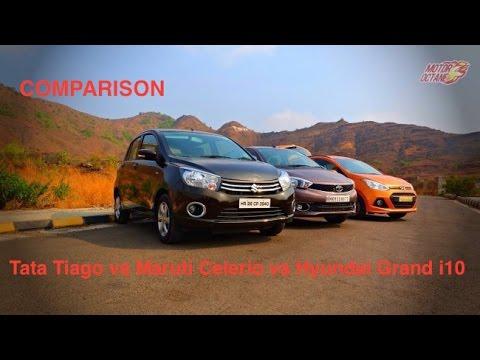 Motoroctane Youtube Video - Tata Tiago vs Hyundai Grand i10 vs Maruti Celerio Comparison - Petrol and Diesel - Hinglish