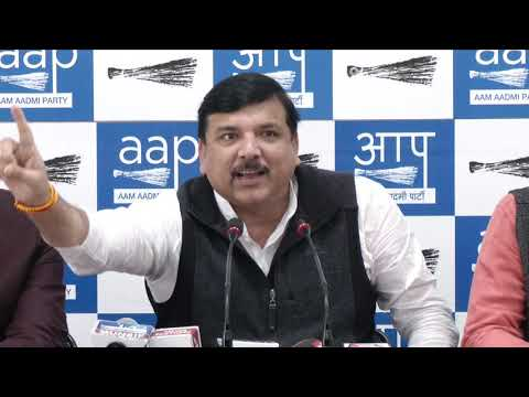 AAP Rajya Sabha Member Sanjay Singh briefs media on Rafale Case
