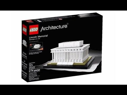 Vidéo LEGO Architecture 21022 : Lincoln Memorial (Washington, Etats-Unis)