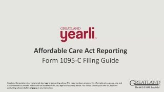 ACA Form 1095 C Part 2 Filing Guide