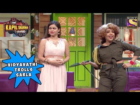 vidyavathi makes fun of sarla s outfit the kapil sharma show