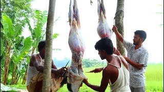 Two Full Goat Meat Curry & Rice Meal For Whole Village People - Mutton Curry Recipe