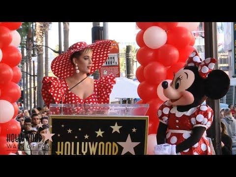 Katy Perry Presents Minnie Mouse with Star on Hollywood Walk of Fame