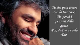 Vivere - Andrea Bocelli - (Lyrics)