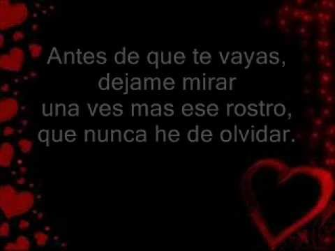 Antes De Que Te Vayas - Marco Antonio Solis letra.wmv