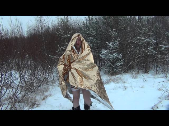 Видео Термоодеяло спасательное Tatonka Rettungsdecke (Gold)
