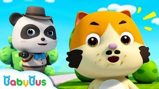 Who Took the Donuts? | Baby Panda Detective | Ice Creams, Hamburgers | Pretend Play | BabyBus