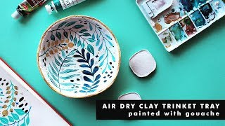 HOW TO MAKE AN ILLUSTRATED AIR DRY CLAY TRINKET TRAY