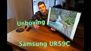 Samsung UR59C - 4K/UHD 32 Zoll curved Monitor - Unboxing