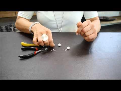 Schmuck selber machen Nietstift biegen für Ohrhaken Ohrringe