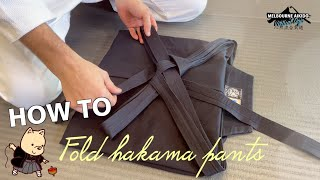 How To Fold Hakama Pants
