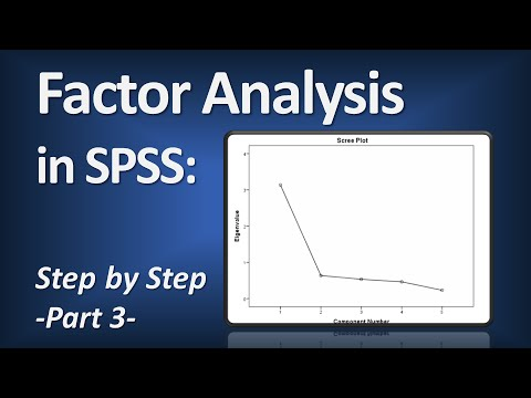 Factor Analysis in SPSS (Principal Components Analysis) - Part 3 of 6
