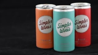 Simpler Wines Mini Can White, Rose, & Peach Wine Review
