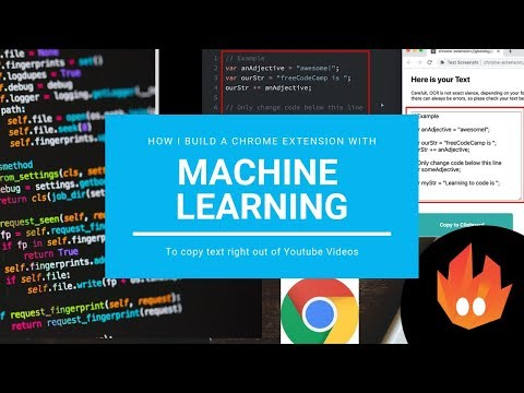 How I build a Chrome Extension that uses Machine Learning to Copy Code from Videos