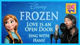 "Love is an Open Door Frozen Karaoke | Male Part Only ""Sing With Me"""