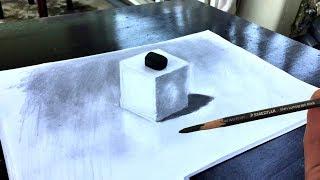 Как нарисовать 3-мерный куб - Выглядит так реально
