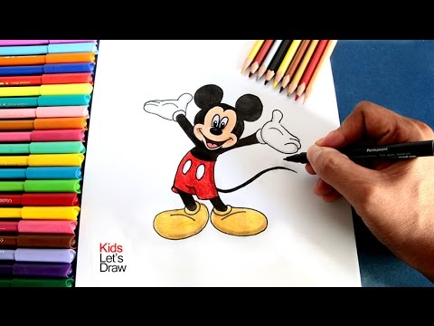 Cómo dibujar a MIKI MOUSE paso a paso | How to draw Mickey Mouse