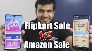 Flipkart Big Billion Sale vs Amazon Indian Festival Sale Comparision !! Konsi Website Pr Better Deal