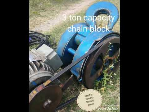 Lifting of borewell submersible pump using chain block