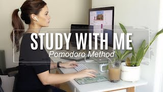 Study with Me (real time) | Pomodoro Method