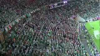 Irish Fans Sing Fields of Athenry Against Spain, Euros 2012