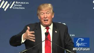Donald Trump Speaks at the Republican Jewish Coalition 2015 Presidential Forum