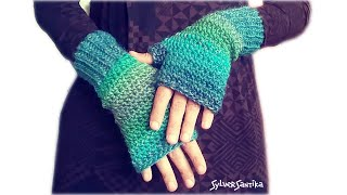 Crochet Pattern: Quick Easy Fingerless Mitts Women