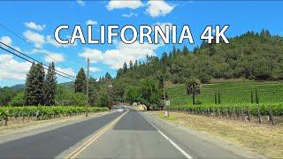Napa Vineyards 4K - Scenic Drive