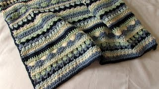 How To Crochet A Pretty Mixed Stripe Blanket / Afghan / Throw Tutorial