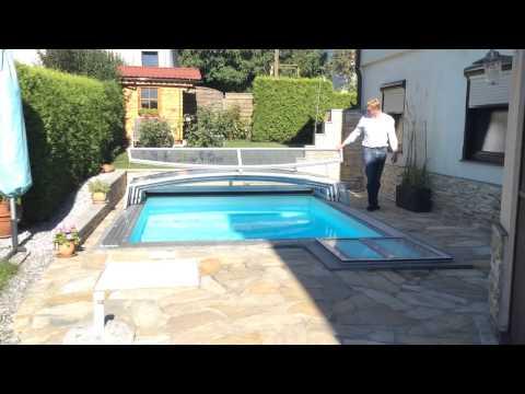 Pool Überdachung für kleinen Garten