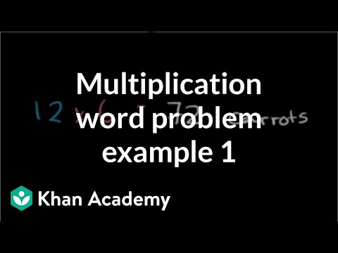Multiplication word problem carrots (video) Khan Academy